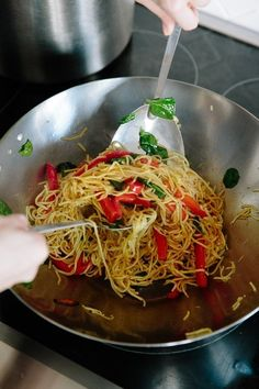 How To Stir-Fry Noodles — Cooking Lessons from The Kitchn · Lo Mein ...