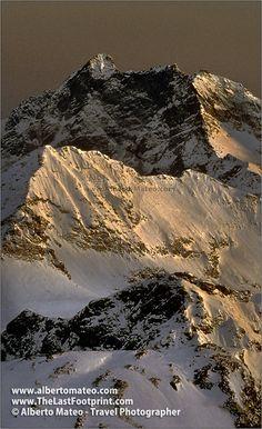 Last light on Mount Corno Bianco, Aosta Valley, Italian, Alps. Landscape Photograph by Alberto Mateo, Travel Photographer.