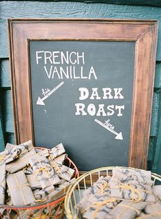 Love the idea of coffee as a wedding favor!