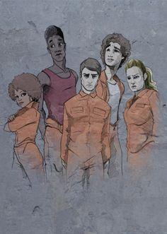 Misfits by Neale on DeviantArt Misfits Nathan, Misfits Tv Show, Misfits Simon, Misfits Series, Serial Art, Mis Fit, Antonia Thomas, Iwan Rheon, Robert Sheehan