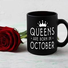 #QueensAreBornInOctober #libra#scorpioBuy it now at AnvyStore.com - The Cutest Shirts for Your Birthday.