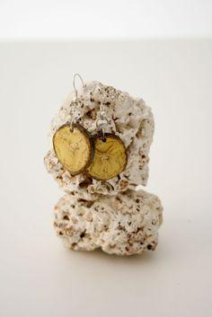 Pendientes hechos con plátano - Malanga  Handmade earrings with banana