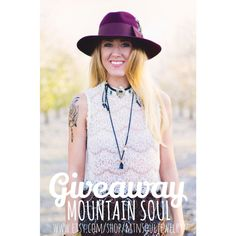 Giveaway!! Follow Mtn.Soul Jewelry on Instagram @mtn_soul_jewelry   Boho jewelry by Mtn.Soul Jewelry on Etsy @ www.etsy.com/shop/mtnsouljewelry
