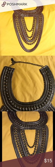 NWOT Choker style bib necklace Beautiful, unique bib necklace. Never worn. Definitely one of my most favorite pieces! Jewelry Necklaces