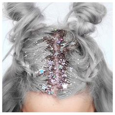 Goodbye flower crown. Hello glitter hair.