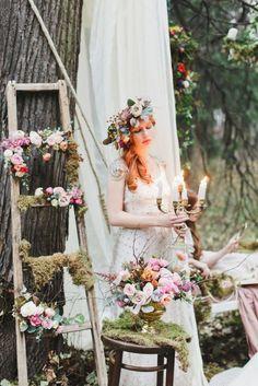 Enchanted-forest-fairytale-wedding-in-shades-of-autumn 1 - Fab Mood   Wedding…