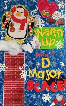 Music Bulletin Board Winter D-Major Scale - Band Orchestra Chorus