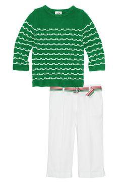 Milly Minis Sweater & Capri Pants (Little Girls & Big Girls) Milly Minis, Girls Wardrobe, Sweet Girls, Little Boys, Kids Fashion, Capri Pants, Nordstrom, Sweatshirts, Sweaters