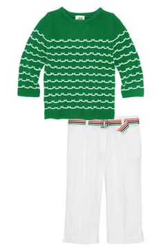 Milly Minis Sweater & Capri Pants (Little Girls & Big Girls)  available at #Nordstrom