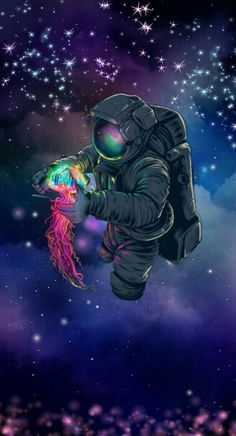 What is yours, comes with time. And what& not is going with him .- O que é teu, chega com o tempo. E o que não é se vai com ele. ✨ What is yours, comes with time. And what is not is going with him. Graffiti Art, Graffiti Wallpaper, Wallpaper Space, Galaxy Wallpaper, Wallpaper Bonitos, Astronaut Wallpaper, Space Artwork, Dope Wallpapers, Galaxy Art