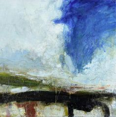 Scudding, 30 x 30cm, Oil and mixed media on canvas, £2,150