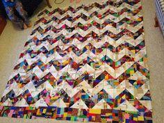 Scraps-a-Plenty: Putting the crumbs together crumb quilt