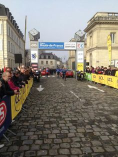 On the start of #ParisRoubaix - The start line ready for the riders