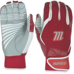 Marucci Youth Venture Batting Gloves, Red