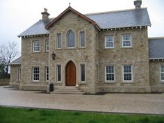 New Buildings Built in Traditional Architecture Style --- - Page 26 Stone Exterior Houses, Dream House Exterior, Stone Houses, Style At Home, French Style Homes, House Designs Ireland, 2 Storey House Design, Ireland Homes, Dream Home Design