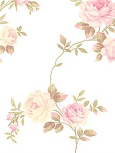 Go for a Shabby-Chic look with this rose print wallpaper from the book Rose Garden AmericanBlinds.com
