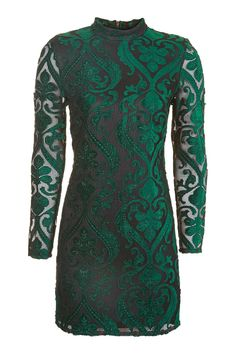 Long Sleeve Velvet Flock Dress - New In This Week - New In - Topshop USA