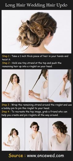 Long Hair Wedding Hair Up-do Tutorial