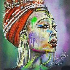 #Art #Sketch #Drawing #Illustration #DigitalArt #African #BlackWoman #Queen…