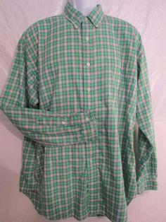 Ralph Lauren Polo Men's Button Front Long Sleeve Button Green Shirt Size XL #RalphLauren #ButtonFront