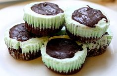 Mint chocolate ice cream brownie cupcakes