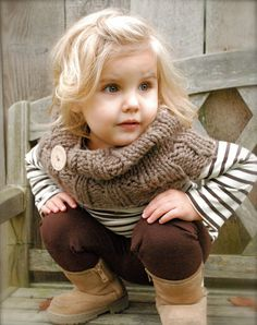 Definitely passing on the scarf trend to my little girl . . . hopefully!