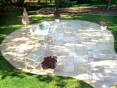 love this stamped concrete patio