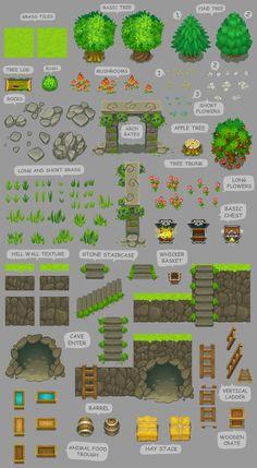 """Untold legacy"" game art - list #1, ""Mountain Village"" on Behance"