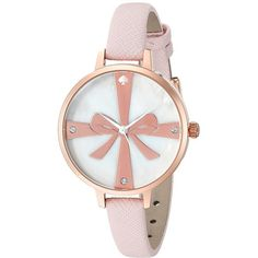 Kate Spade New York Metro Wrapped Up Skinny Strap Watch - 1YRU0879 ($175) ❤ liked on Polyvore featuring jewelry, watches, ballet slipper, fashion watches, white watches, wrap watches, bow jewelry, analog wrist watch and wrap wrist watch