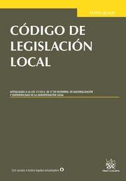 Código de legislación local / edición preparada por Hilario Llavador Cisternes, Beatriz Moreno Serrano