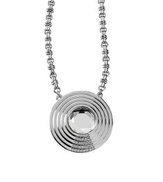 Cut crystals and polished silver look ever-so chic on the Sonic Boom necklace. Www.liasophia.com/kishahampton
