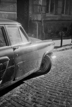 Old car. Black & white.