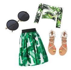 """7 0 8"" by tenuunl on Polyvore featuring Dolce&Gabbana Skater Skirt, Midi Skirt, Ballet Skirt, Shoe Bag, Polyvore, Skirts, Shopping, Collection, Design"