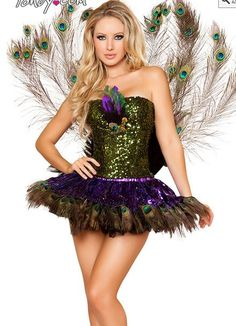 Peacock #costume #halloween not this short by far but like the concept