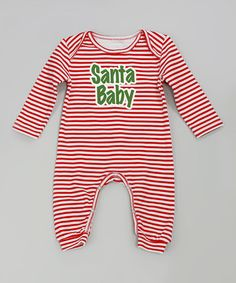 Take a look at the Truffles Ruffles Red 'Santa Baby' Playsuit - Infant on #zulily today!