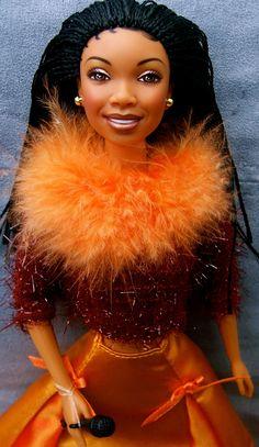 The Black Barbie & Her Hair, a History Beautiful Barbie Dolls, Vintage Barbie Dolls, Celebrity Barbie Dolls, Diva Dolls, Dolls Dolls, Barbies Dolls, Micro Braids, African American Dolls, Black Barbie