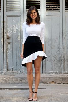 DIY: Balenciaga inspired ruffle skirt