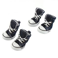 Casual Denim Style Shoes for Dogs (XS-XL, Assorted Colors)   – USD $ 9.99 Too Cute!!!