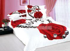 Amor rosa roja impresa 4 piezas Blancos consolador barato (Envío Gratuito)