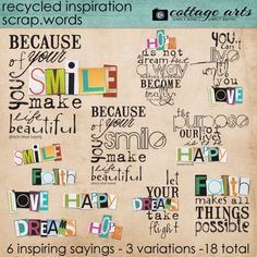 Recycled Inspiration Scrap.Words