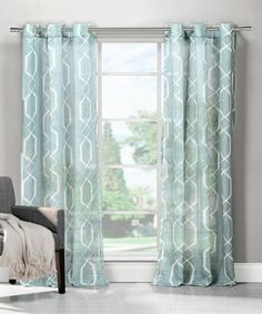 Another great find on #zulily! Blue Arcadia Curtain Panel - Set of Two #zulilyfinds