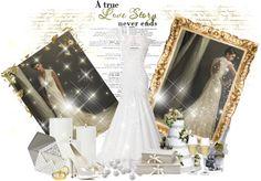 """Uma bela noiva e seu belo vestido.."" by amandacelecina ❤ liked on Polyvore"