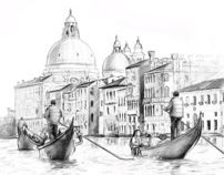 Italy. Illustration. by Anna Ulyashina - illustrator, via Behance