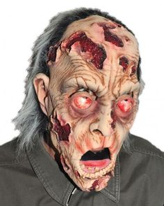 He's Appeeling Mask SKU: M2584 Rotting zombie mask with hand-painted eyes and large open sores. Zagone Masks & Costumes | Zagone Studios