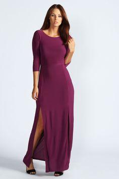 Details about Sexy Women Long Sleeve Maxi Dress Double Split High Fashion Company, Purple Dress, New Dress, Designer Dresses, Sexy Women, Cold Shoulder Dress, Sleeve Dresses, Maleficent, Boohoo