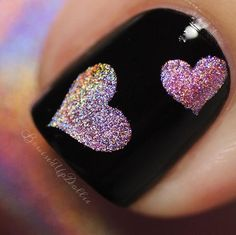 Fun macro by @bruisedupdollie using Triple Heart Nail Stencils. - Found at snailvinyls.com