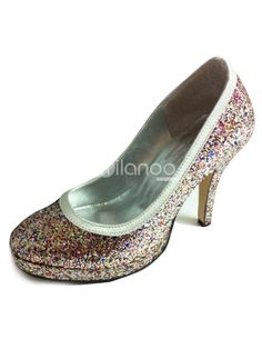 Colorful Sequins Platform Synthetic Wedding Shoes. See More Bridal Shoes at http://www.ourgreatshop.com/Bridal-Shoes-C919.aspx