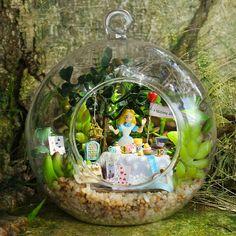 Creative DIY Alice in Wonderland Terrarium Craft Kit by ZakkaMart