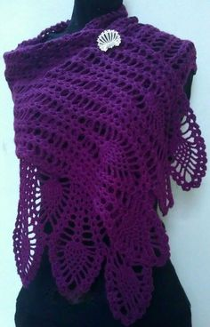 Crochet patterns free: See the elegance of this work in crochet yarn. sca...