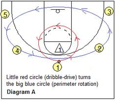 Read and React offense - dribble penetration, circle movement - Coach's Clipboard #Basketball Coaching